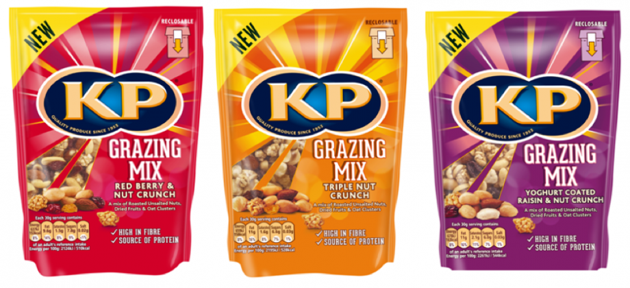 KP has just launched a range of Grazing Mixes, which can be found in Tesco now!