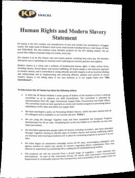 Modern Slavery Statement 2018
