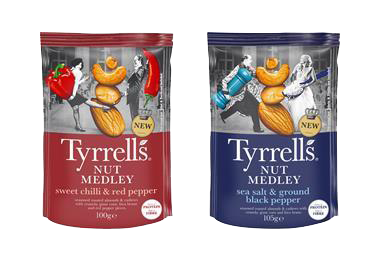 TYRRELLS LAUNCHES MAGNIFICENT NUT MEDLEYS ALONGSIDE REVAMPED POPCORN RANGE
