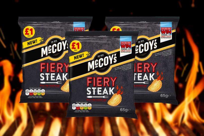 MCCOY'S LAUNCHES NEW FIERY STEAK RIDGE CUT CRISPS