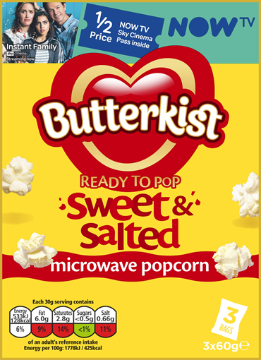 BUTTERKIST GETS THINGS POPPING WITH NEW NOW TV PARTNERSHIP