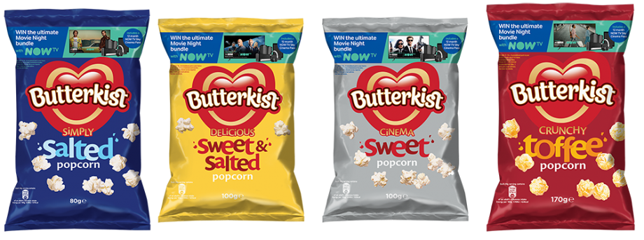 NATION'S FAVOURITE POPCORN BUTTERKIST TEAMS UP WITH NOW TV TO LAUNCH THE 'ULTIMATE MOVIE NIGHT'