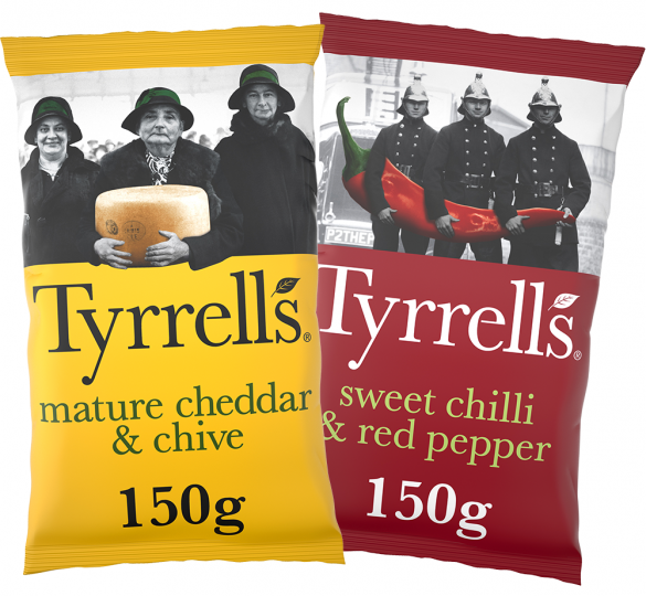 TYRRELLS 'TYRRELLBLY TYRRELLBLY TASTY' CAMPAIGN BACK ON TV WITH £1M INVESTMENT OVER EASTER