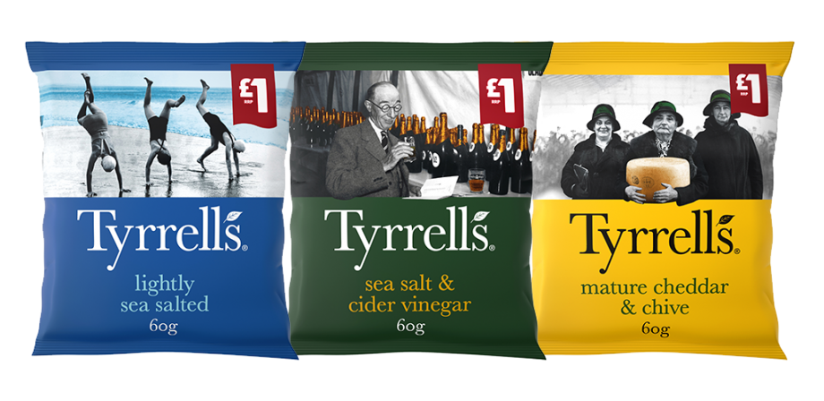 KP SNACKS EXTENDS MARKET LEADING £1 PMP RANGE WITH TYRRELLS LAUNCH